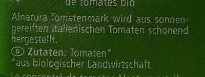 Tomaten Mark 2-fach konzentriert - Inhaltsstoffe