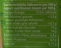 Tomaten Mark 2-fach konzentriert - Nährwertangaben