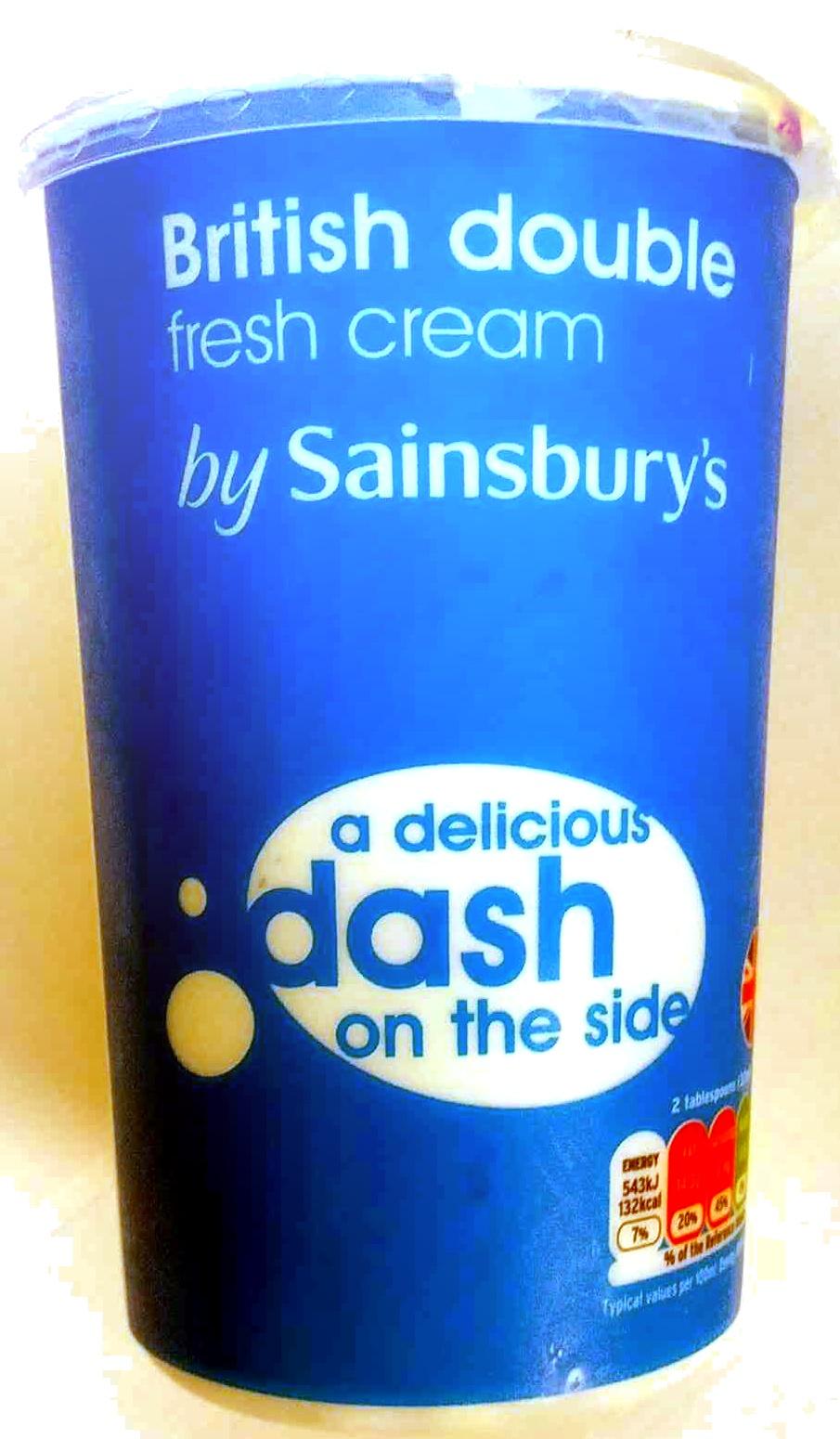 British double fresh cream - Product - en