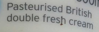 British double fresh cream - Ingredients - en