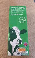 Semi-skimmed less than 2% fat British milk - Produit - en