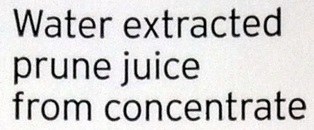 Water extracted prune juice from concentrate - Ingrédients - en