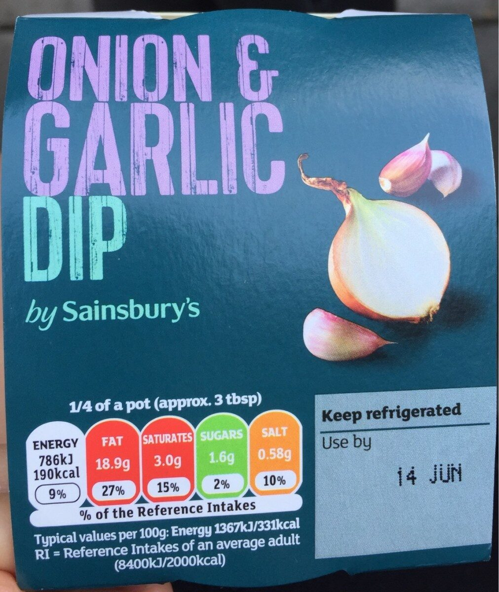Onion & garlic dip - Produit - fr