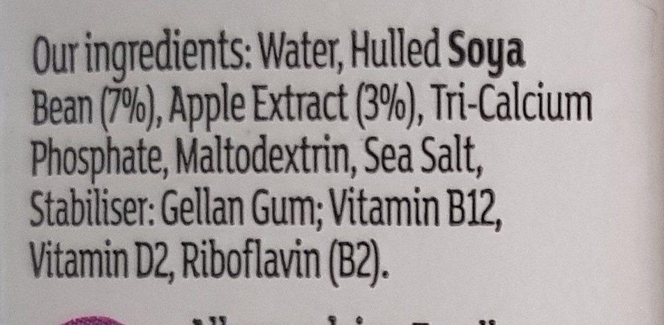 Soya Milk - Ingredienti - en