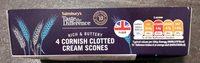 4 Cornish Clotted Cream Scones - Product - en