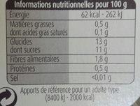 compotes pomme myrtilles - Informations nutritionnelles - fr