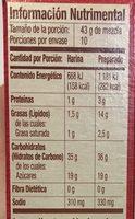 Harina para preparar pastel amarillo - Nutrition facts