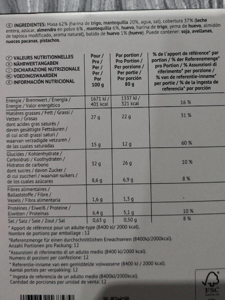 Galette des rois - Informação nutricional - fr