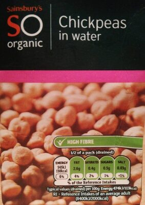 Chickpeas in water - Product