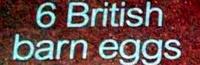 6 British barn eggs - Ingrédients - en