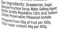 Strawberry Jam reduced sugar - Ingredients