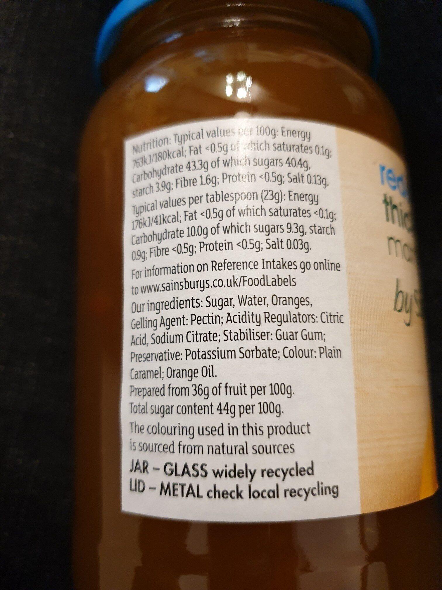 sainsburys thick cut marmalade - Ingrediënten - en