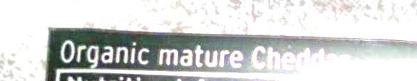 British Mature Cheddar - Ingredients