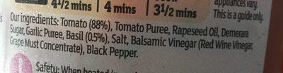 Tomata & basil sauce - Ingredients