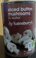 Sliced button mushrooms in water - Produit