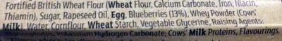 blueberry muffins - Ingrédients