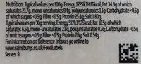 Vintage Cheddar - Nutrition facts - en