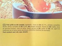 Heudebert la tartine Blé complet - Ingrediënten