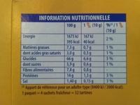 Heudebert la tartine Blé complet - Voedingswaarden
