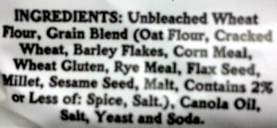 Splits - multigrain - Ingredients