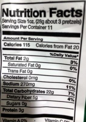 Splits - multigrain - Nutrition facts