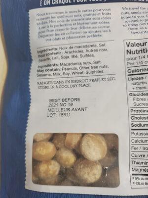 Noix de macadamia - Ingredients - fr