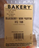 Blueberry mini muffin (x12 tub) - Produit - fr