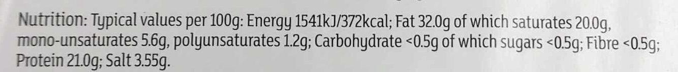 Roquefort - Informations nutritionnelles - en