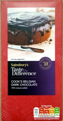 Cook's Belgian Dark Chocolate - Product