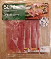 5 Spanish air dried Serrano ham slices - Product - en
