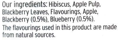 Blackberry & Blueberry Infusion - Ingredients