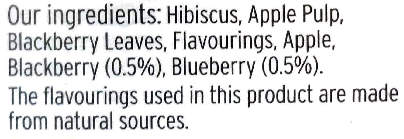 Blackberry & Blueberry Infusion - Ingredients - en