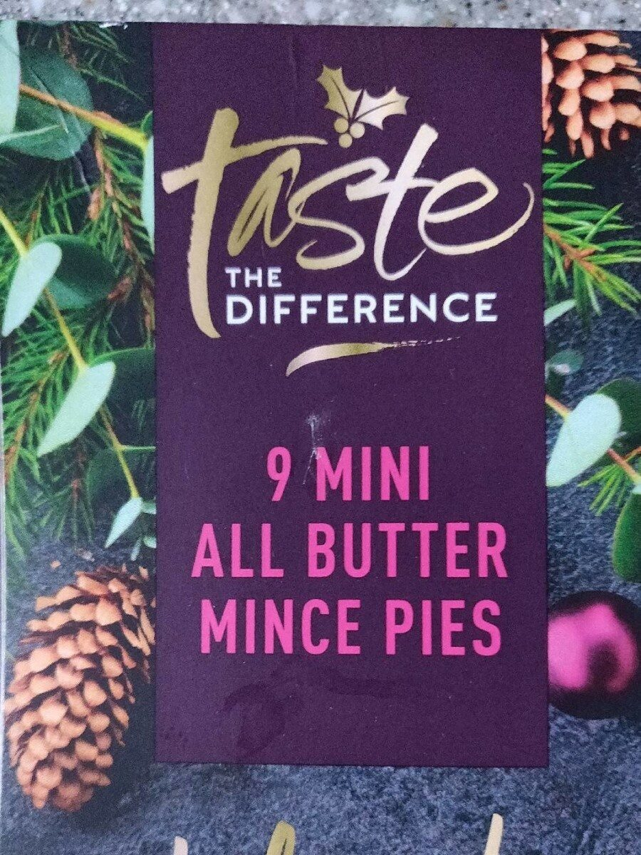 Sainsbury's taste the difference 9 mini all butter mince pies - Product
