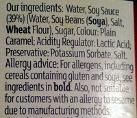 Light Soy Sauce - Ingredients