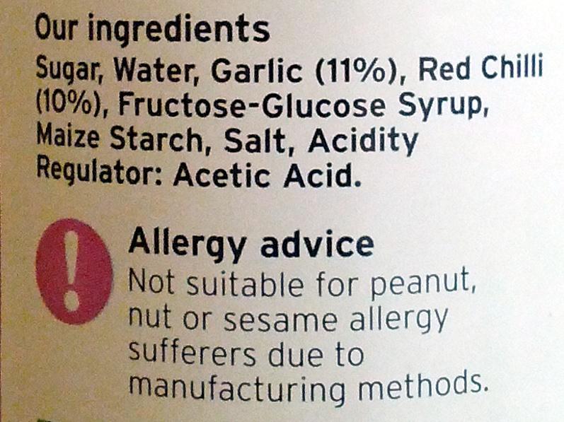 Sweet Chilli Dipping Sauce - Ingrediënten