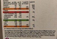 Beef lasagne - Informations nutritionnelles - en