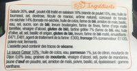 Salade poulet caesar - Ingrédients - fr