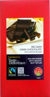 Belgian dark chocolate - Product