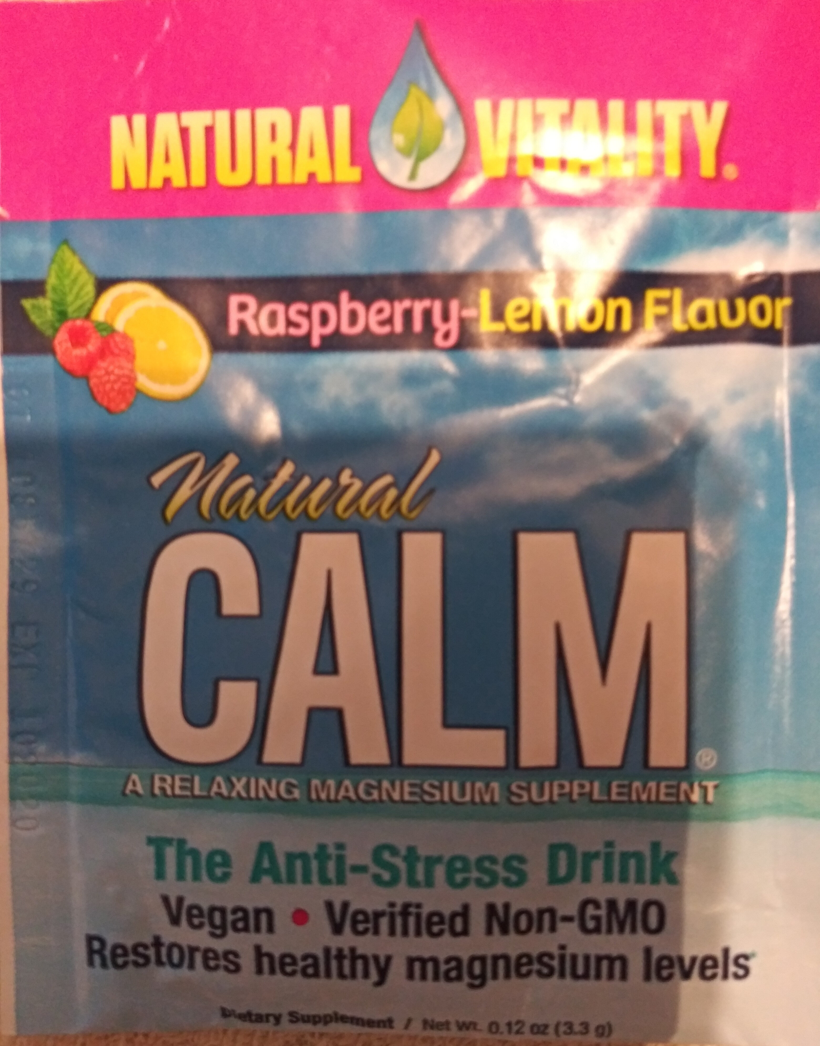 Natural Calm Raspberry-Lemon Flavor - Product