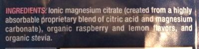 Natural Calm Raspberry-Lemon Flavor - Ingredients