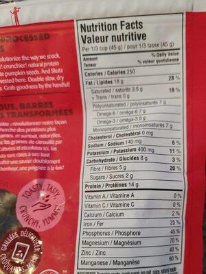 Graines de citrouilles rôties chili érable - Nutrition facts - fr