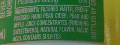 Pacific Pear - Ingredients - en