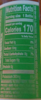 Pacific Pear - Nutrition facts - en