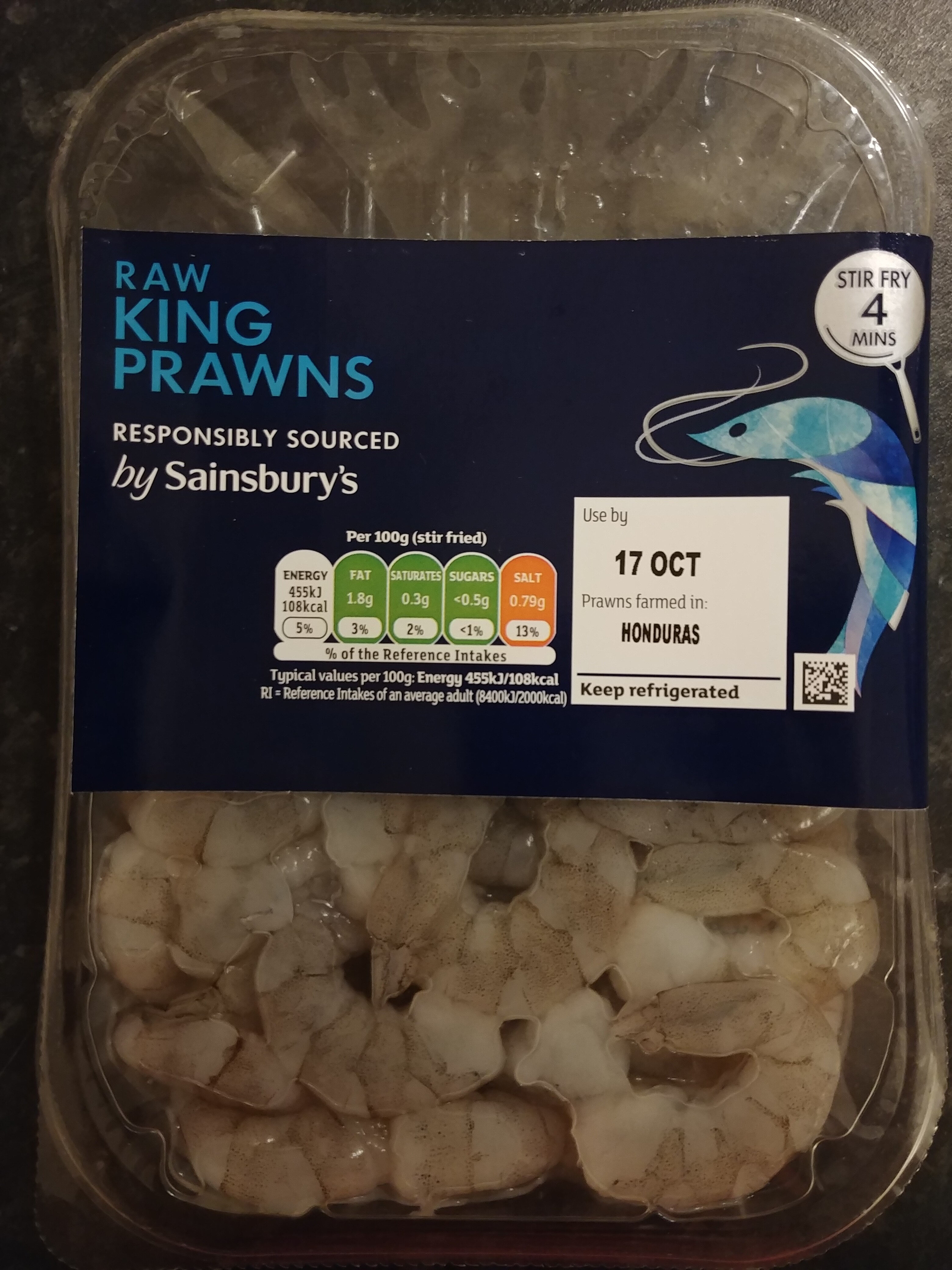 Raw peeled king prawns - Product - en