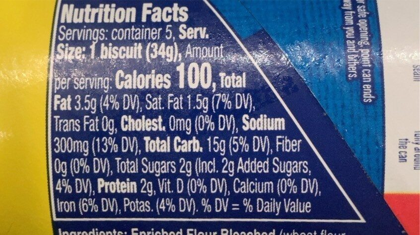 Biscuits Flaky Layers - Nutrition facts - en