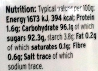 Silver Balls - Informations nutritionnelles - en