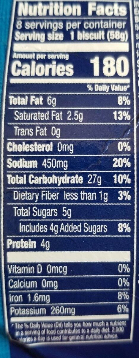 Grands biscuits - Nutrition facts - en
