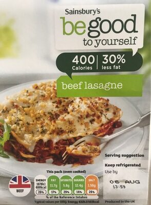 Be good to yourself beef lasagne - Product