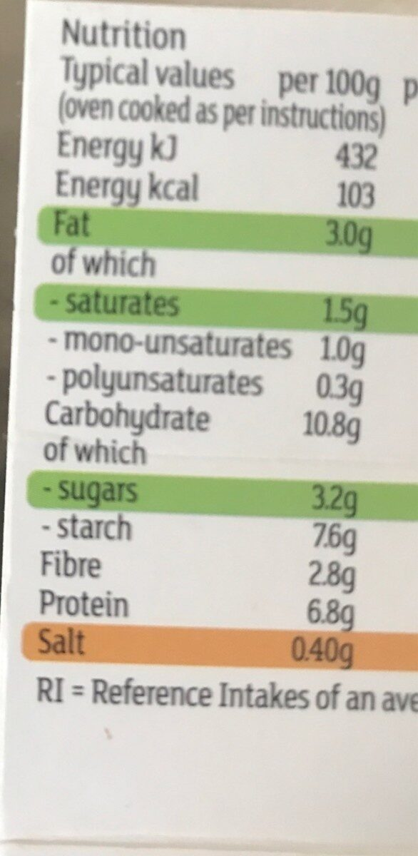 Be good to yourself beef lasagne - Nutrition facts