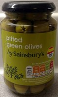 Pitted green olives - Product
